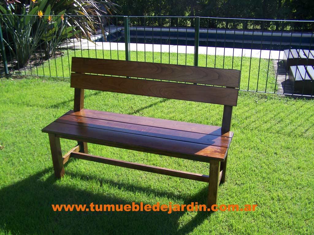 Bancos de madera para quinchos for Bancos de jardin de madera