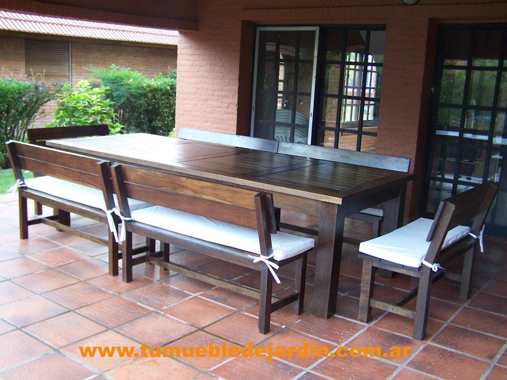 Mesas para quinchos for Muebles jardin modernos